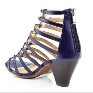 ebad181aad3 Charming Charlie Shoes - PRICE DROP ✅ Navy Blue Stacey Heeled Gladiator San